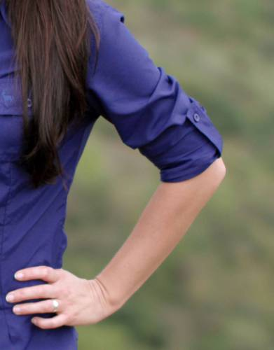 A long-sleeved shirt is a great first choice for all outdoor adventures. Roll up your sleeves as the day heats up and secure them with the button-up roll-up sleeve tabs for a great look and free and unhindered activity.