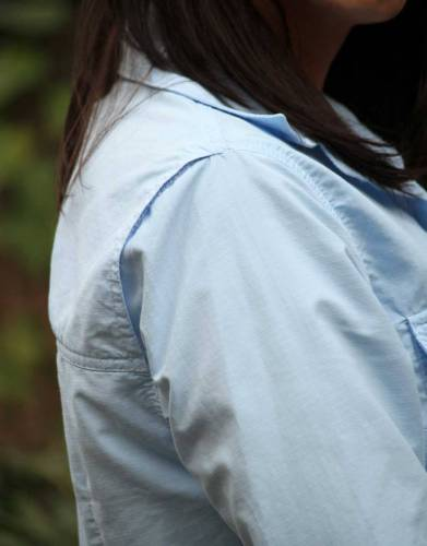 This shirt features the +Vent hidden system along back top seam to increase air-flow and keep you cool.