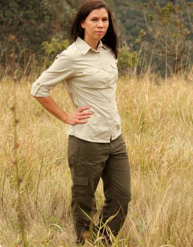 Keep the legs rolled down to enjoy the protection of full trousers on safari and outdoors.