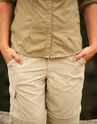 Made from MaraTech fabric with built-in SPF and moisture wicking properties, these lightweight Ripstop trousers have fabric and design features (and lots of pockets) which make them highly functional and versatile on safari and outdoors.