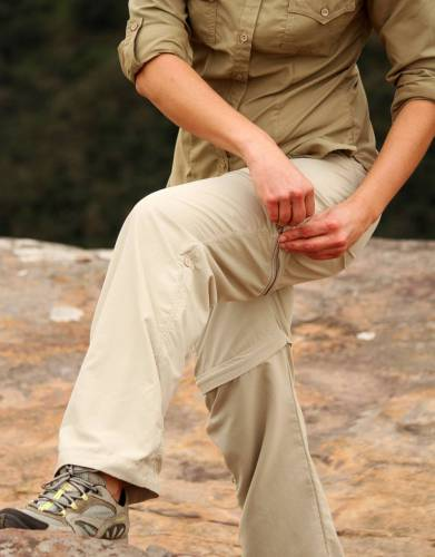 Zip-off trousers simplify packing for your safari or outdoor adventure. With two garments in one, zip off the trouser legs as the day heats up to convert your trousers into shorts on the move.