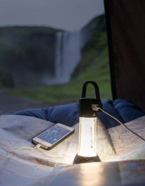 The perfect camping lantern, the Ledlenser ML6 Lantern is also a power bank using the USB cable for total outdoor convenience