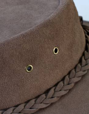 The eyelets on the crown of the hat increase airflow around the inside of the hat to regulate temperature - especially in hot weather.
