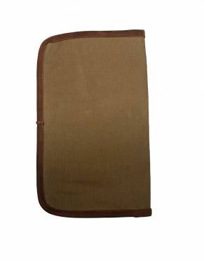 In a fold-over design, this Classic Safari Travel Wallet is made from Tanzanian cotton canvas and premium leather