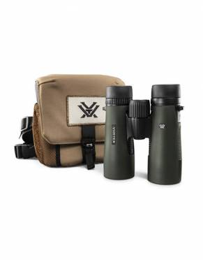 These Vortex 10x42 HD binoculars come with a GlassPak binoculars case and harness to keep your binoculars right at hand and protected on safari