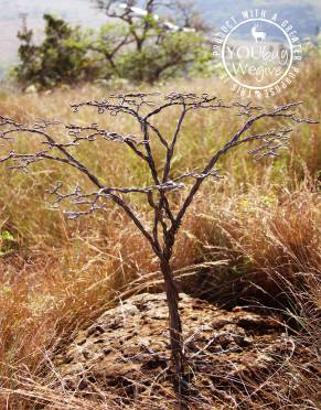 Inspired by nature, this wire snare tree is the perfect gift or decor item for Africa-lovers