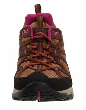 Together with the internal padding and cushioning, the lace-up design and bellows tongue make for a snug fit and prevent debris from entering the shoe along the way.