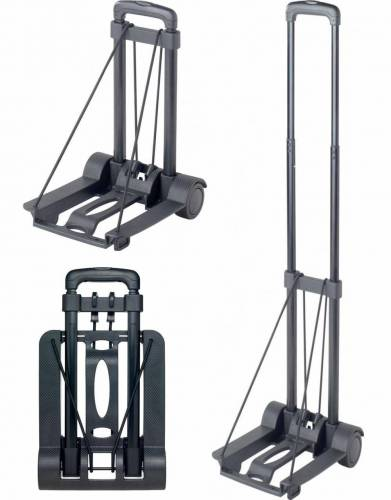 With strict luggage allowances, and soft 'no-frame' luggage the order of the day, using this lightweight telescopic travel trolley will make airport transfers a breeze.