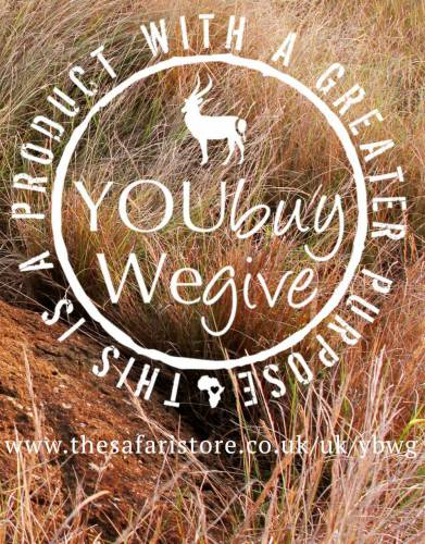 This is a product with a greater purpose. You buy this product and we give back to conservation and local communities.