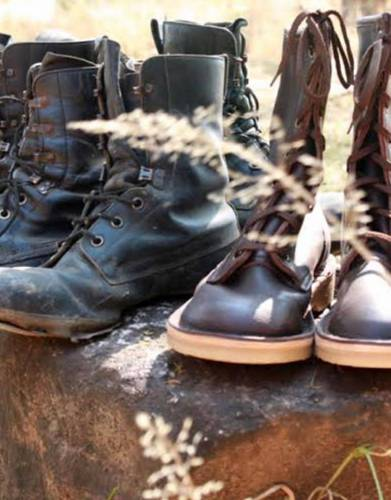 Out with the old and in with the new. Worn for countless hours on patrol, the boots we donate with each purchase will replace the APUs' boots on a regular basis -  providing them with ongoing comfort and protection across varied, harsh terrain.