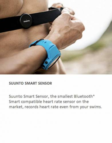 Size really matters. Whatever your sport, Suunto Smart Sensor – the smallest Bluetooth Smart compatible heart rate sensor on the market – measures your heart rate with great comfort and accuracy. While swimming, the sensor stores your heart rate data and