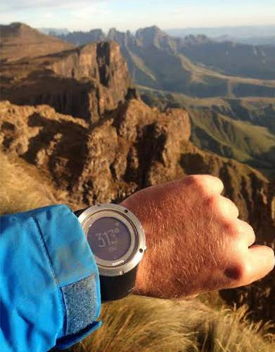 On a Drakensberg hike in search of the remote Rollands Cave, MD Steve and our testing team tested the Suunto Ambit3 Peak watch. It successfully helped them keep track of their route up the mountain, climbing 1,800m in 14km's.