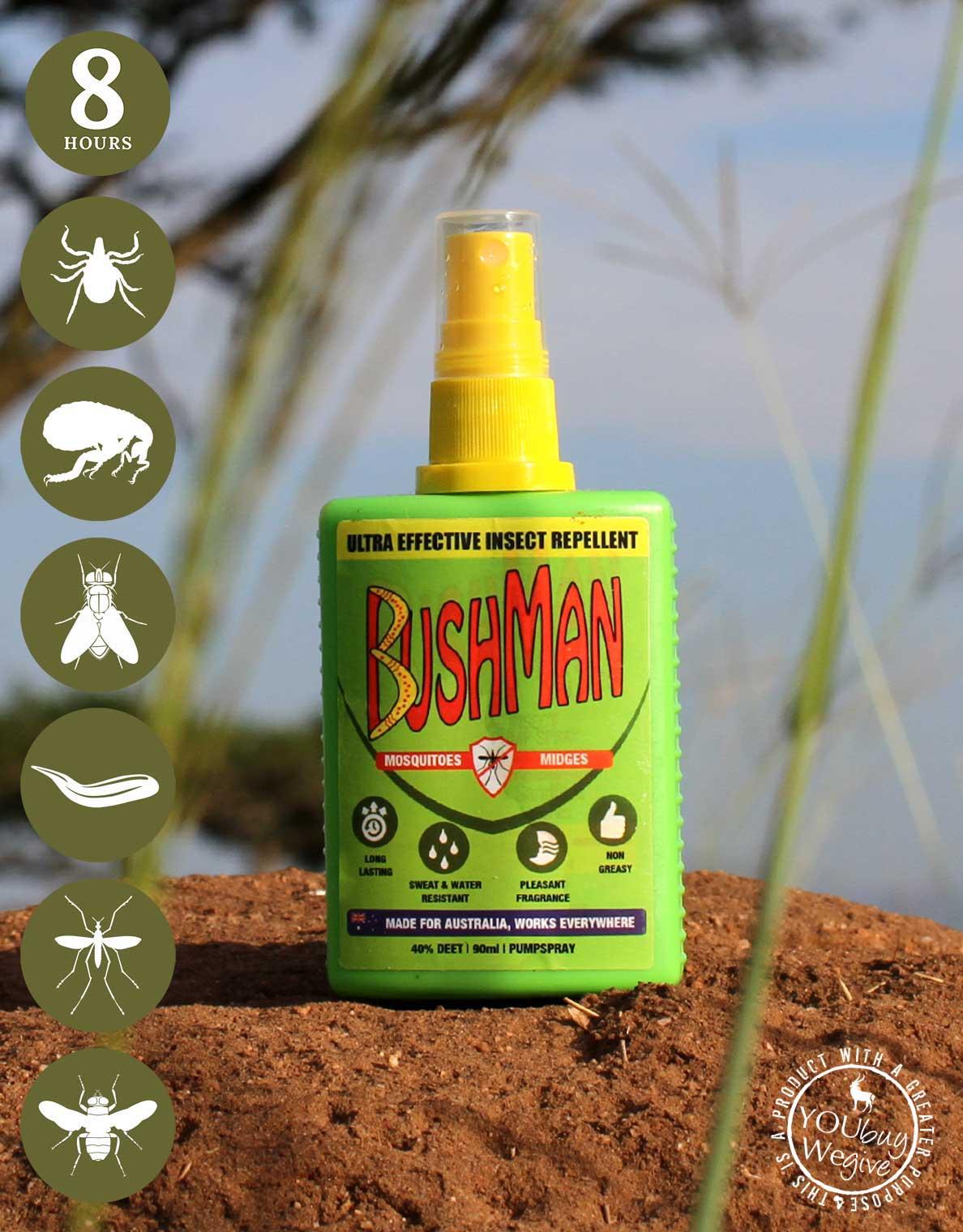Bushman repellent - pack it for the Okavango Delta.