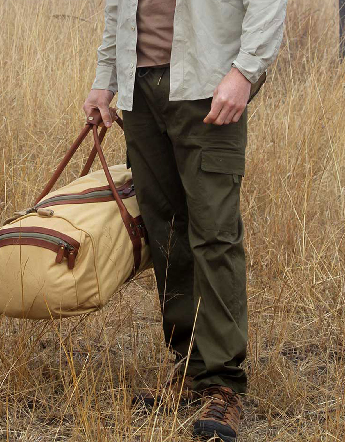 Mens trousers pack a few pairs for the Okavango Delta.