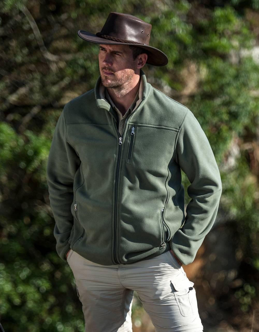 Mens Bonded Fleece- pack it for the Okavango Delta.