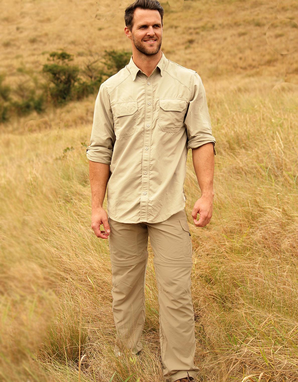 men's rufiji™ bugtech ™ zipoff safari trousers 32 inch