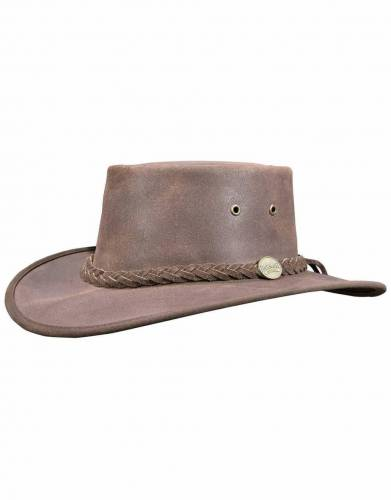 Barmah Squashy Leather Oiled Safari Hat