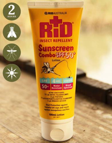 RID™ Insect Repellent & SPF50+ Sunscreen Combo (100ml)