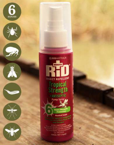 RID™ Tropical Strength Insect Repellent Spray (Safari & Travel)