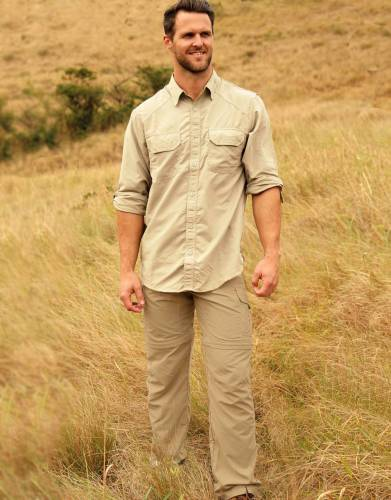Men's BUGTech™ Insect Repellent Zip-Off Cargo Safari Trousers