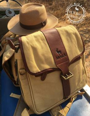 Mara&Meru™ Canvas & Leather 3-in-1 Safari Pannier Bag
