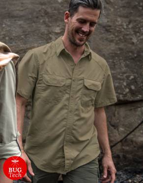 Men's Rufiji™  Explorer BUGTech™ Anti-Insect Safari Shirt, Short Sleeves