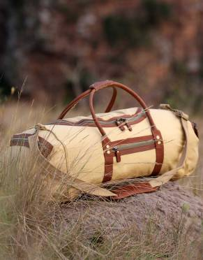 The Rufiji™ Safari Explorer II - Canvas & Leather Safari Duffle Bag