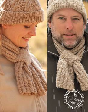 Thusk™ Knitted Bow-Scarf