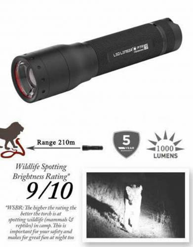 P7R Rechargeable Ledlenser Safari Torch