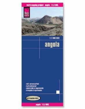 Reise Map of Angola by Safari Store