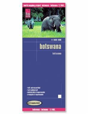Reise Map of Botswana