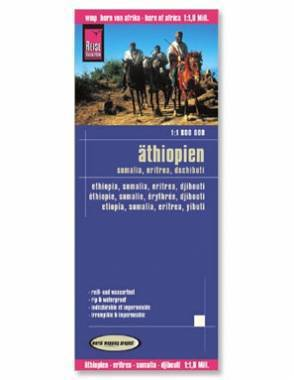 Reise Map of Ethiopia, Eritrea, Somalia, Djibouti by Safari Store