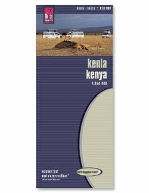 Reise Map of Kenya by Safari Store