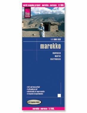 Reise Map of Morocco by Safari Store