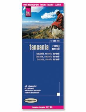 Reise Map of Tanzania