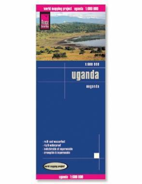 Reise Map of Uganda by Safari Store