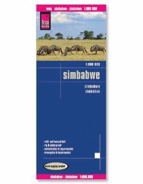 Reise Map of Zimbabwe