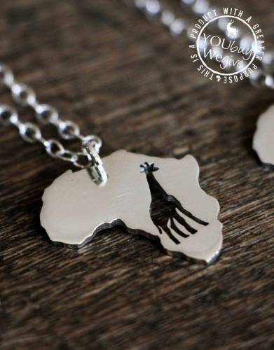 Mara&Meru™ Giraffe Silver Necklace