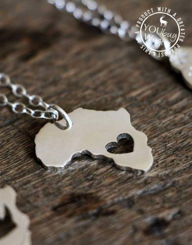 Mara&Meru™ Africa Heart Silver Necklace