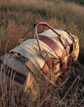 Voyager Canvas & Leather Safari Duffle Bag (The Everything Bag)