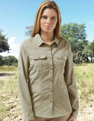 Women's NosiDefence Classic Safari Bush Shirt