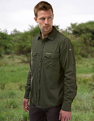 Men's Kiwi NosiDefence Long-Sleeved Safari Shirt