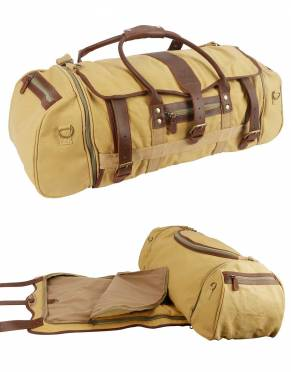 Mara&Meru™ Safari Voyager III Duffle Bag with built-in Suit Bag by Safari Store