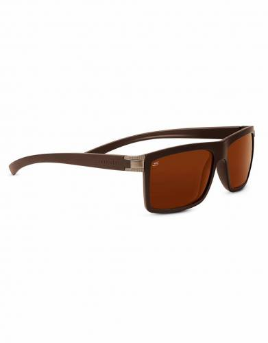 Serengeti Brera Sanded Dark Brown Polarized Drivers Lenses
