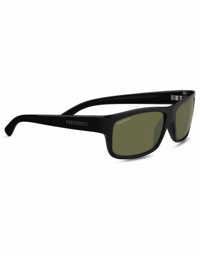Martino Serengeti Shiny Black 555nm® Polarized Sunglasses