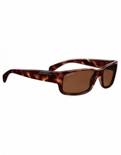 Merano Dark Tortoise Serengeti Sunglasses (Unisex)
