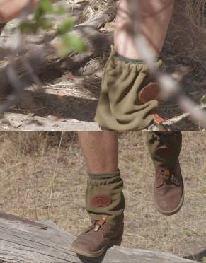 Rufiji™ Safari Suede Gaiters (Unisex) by Safari Store