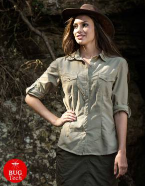 Women's Pioneer BUGTech Anti-Insect Safari Shirt