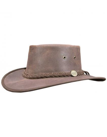 Barmah Squashy Leather Oiled Safari Hat