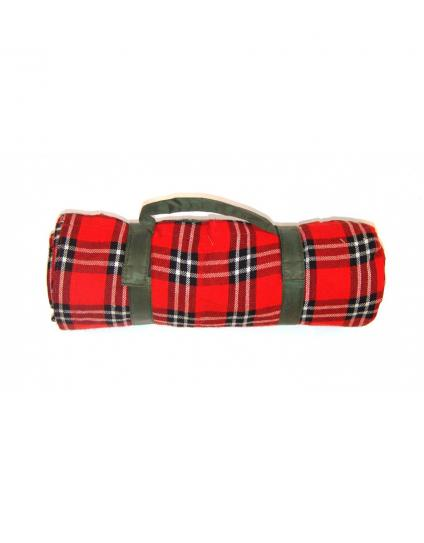 Masaai Shuka Red & Black Picnic blanket with Waterproof Lining